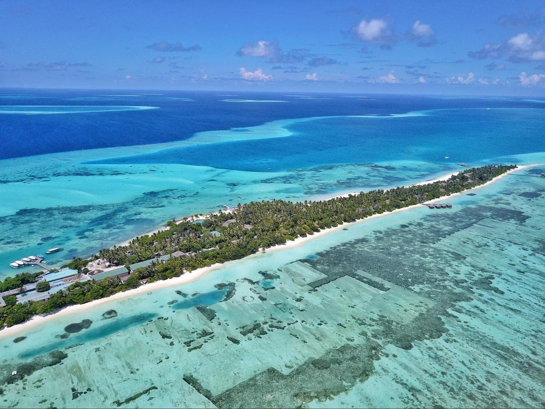 Drone show of LUX* Maldives South Ari Atoll