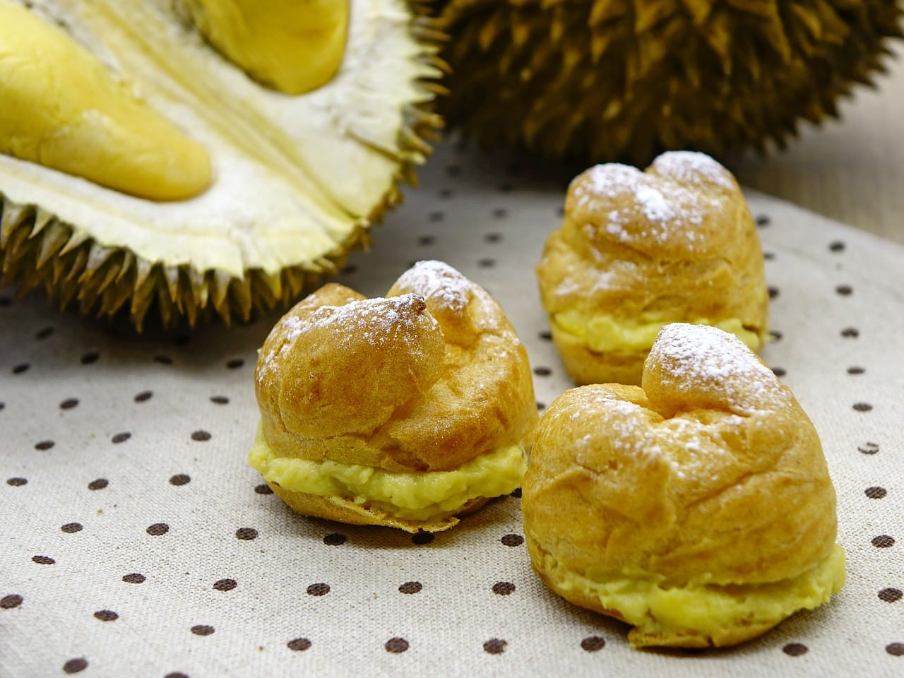 Durian and durian puff