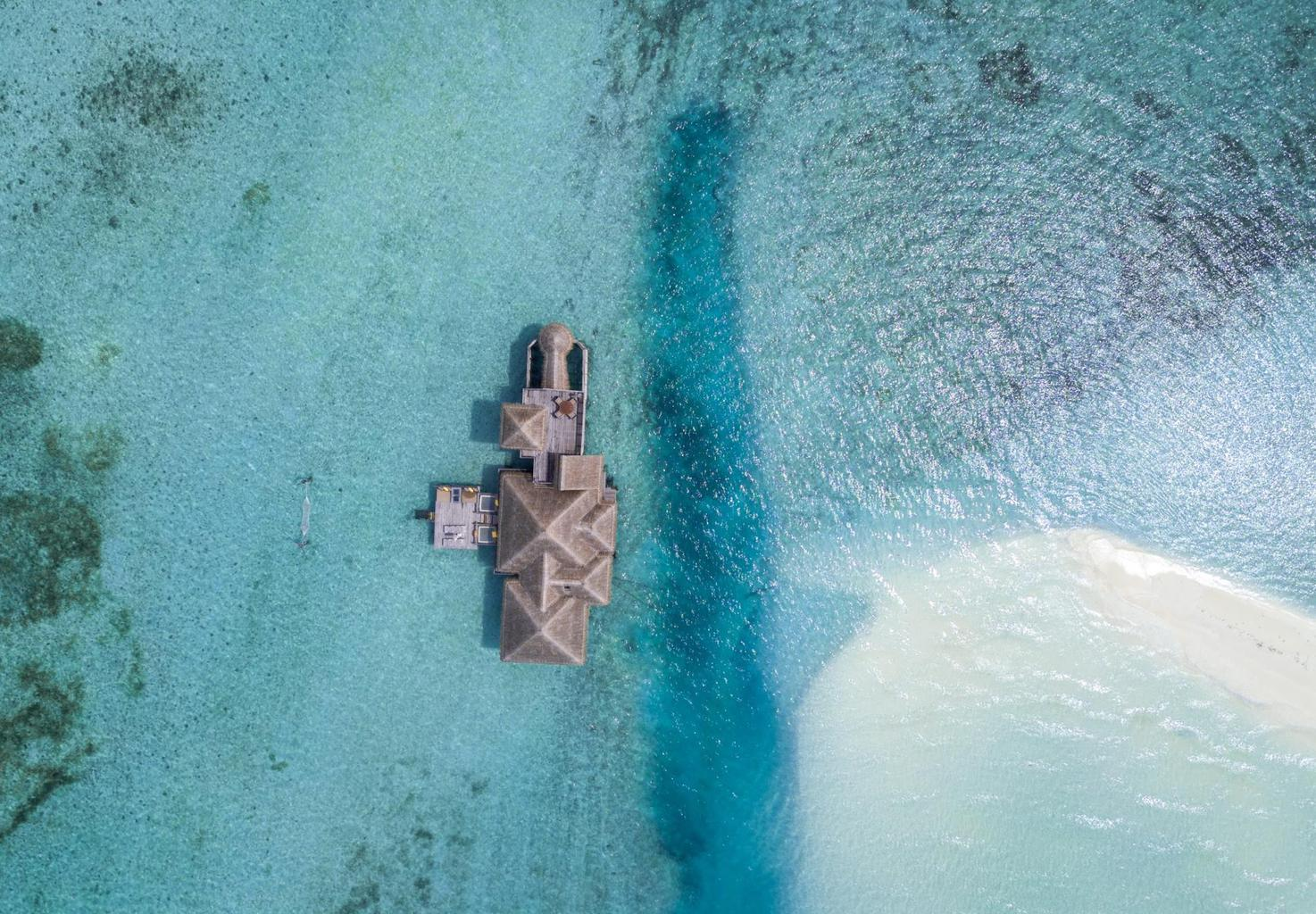 Gili Lankanfushi Crusoe Residences from the air