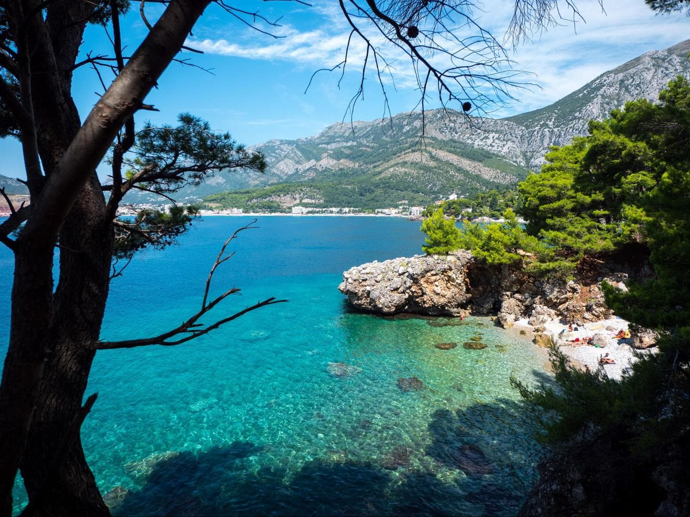 Hidden beach in Montenegro