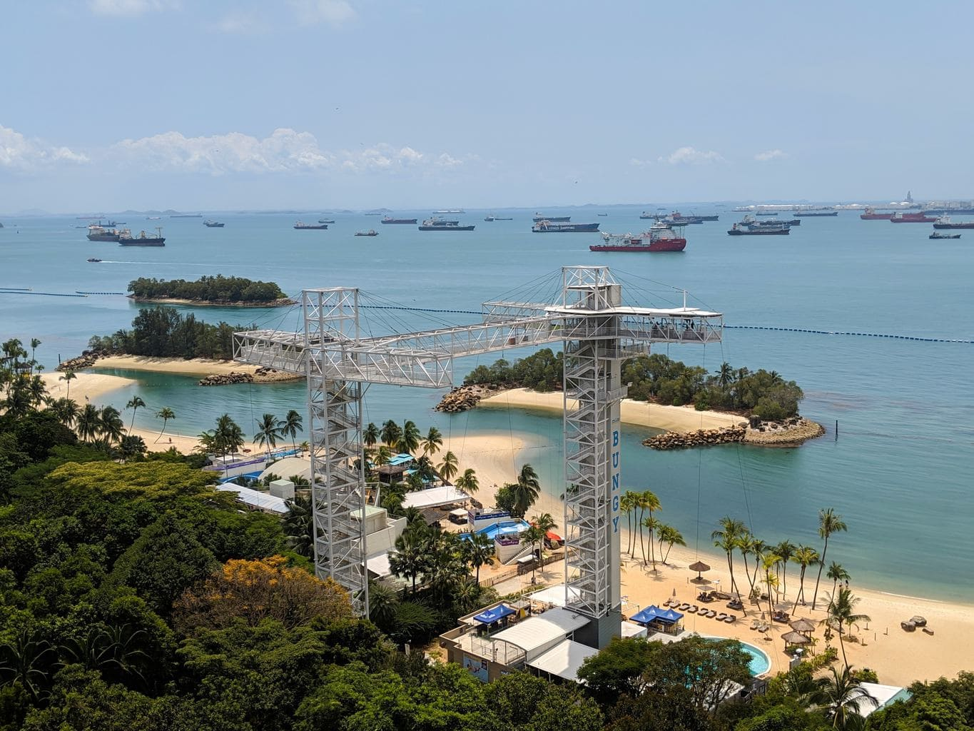 """AJ Hackett structure on Sentosa"""
