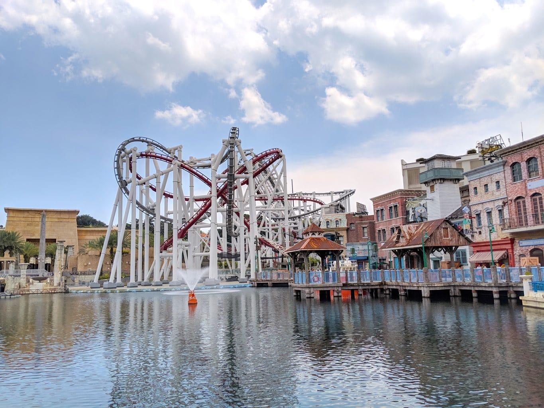 """Universal Studios Singapore roller coaster"""