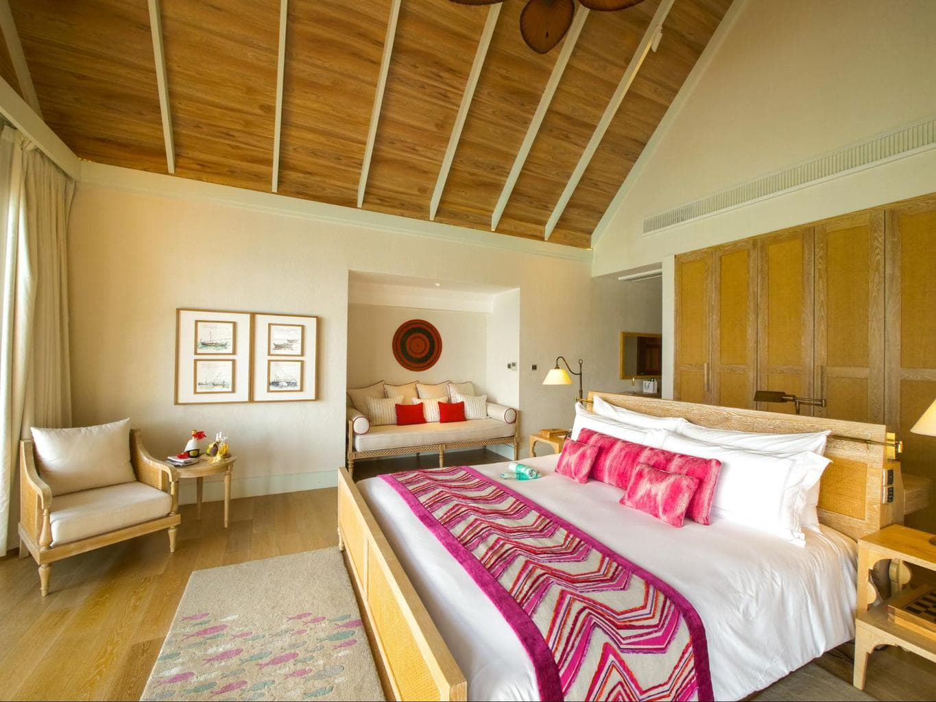 Interior of the Water villas at Milaidhoo