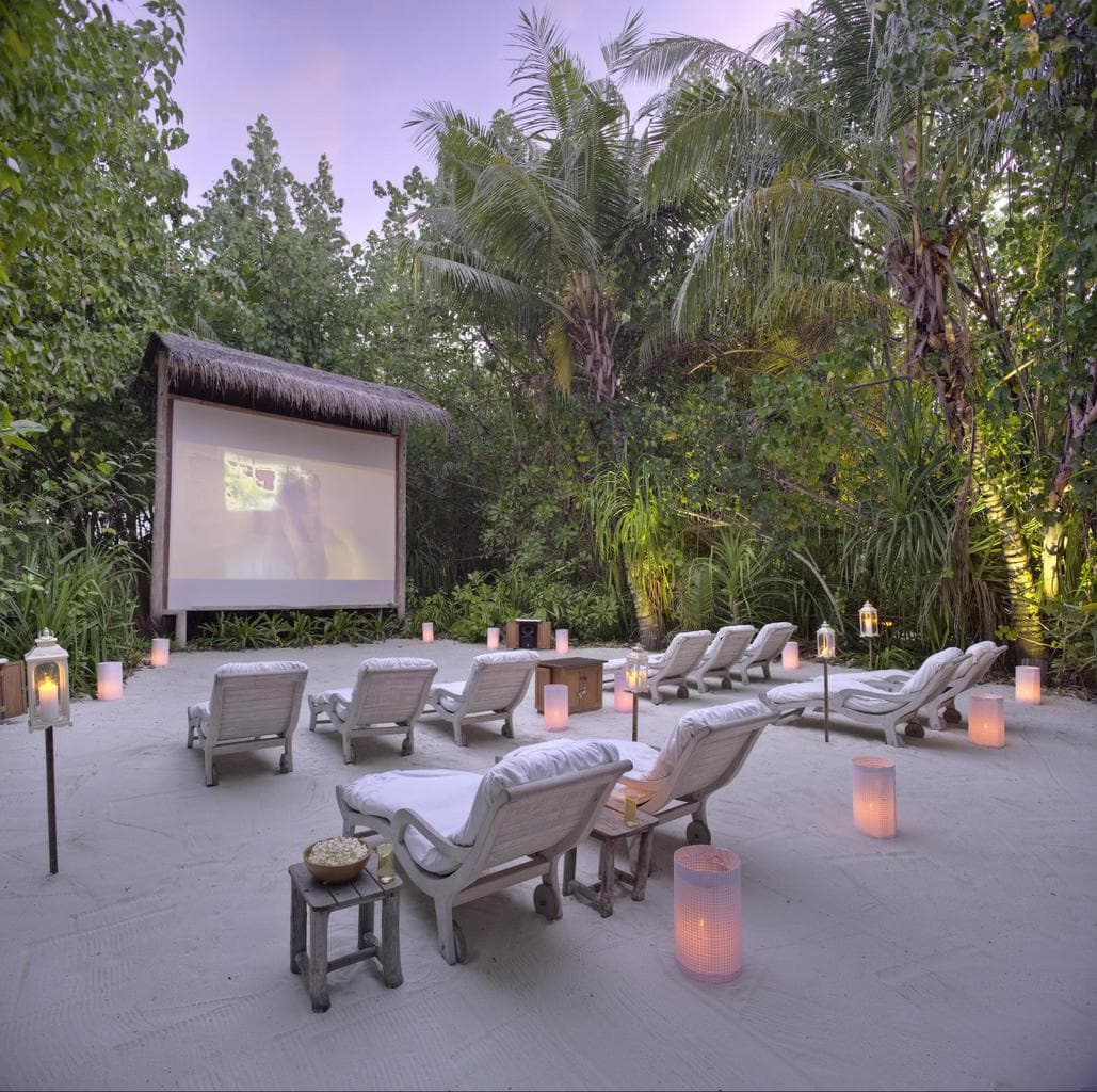Jungle Cinema at Gili Lankanfushi - Courtesy of Gili Lankanfushi