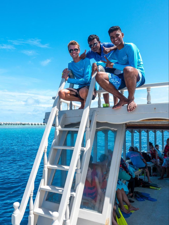 LUX* Maldives marine biologist and team