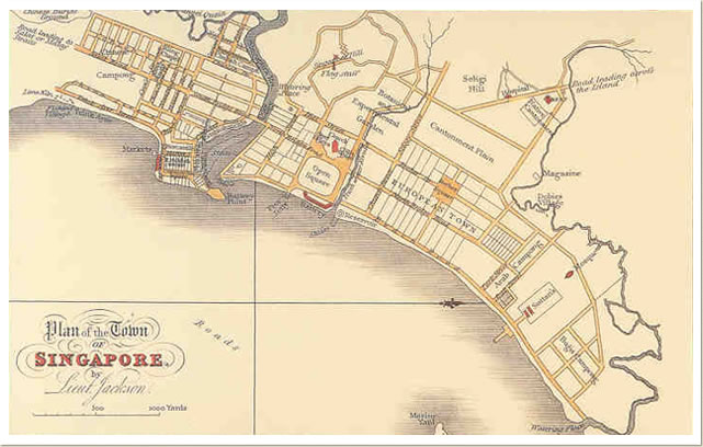 Map of Singapore Chinatown 1822