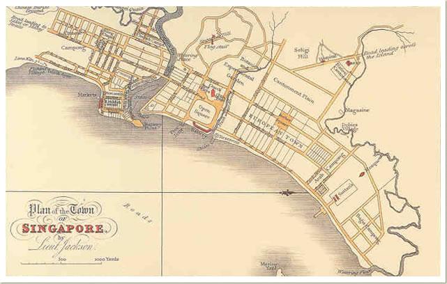 Map of Singapore Chinatown 1822