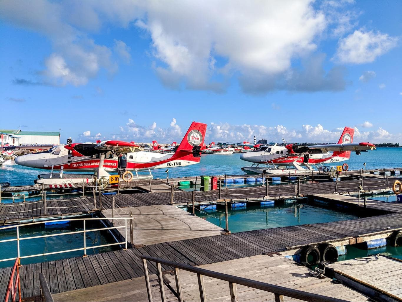 Our seaplane to LUX* Maldives