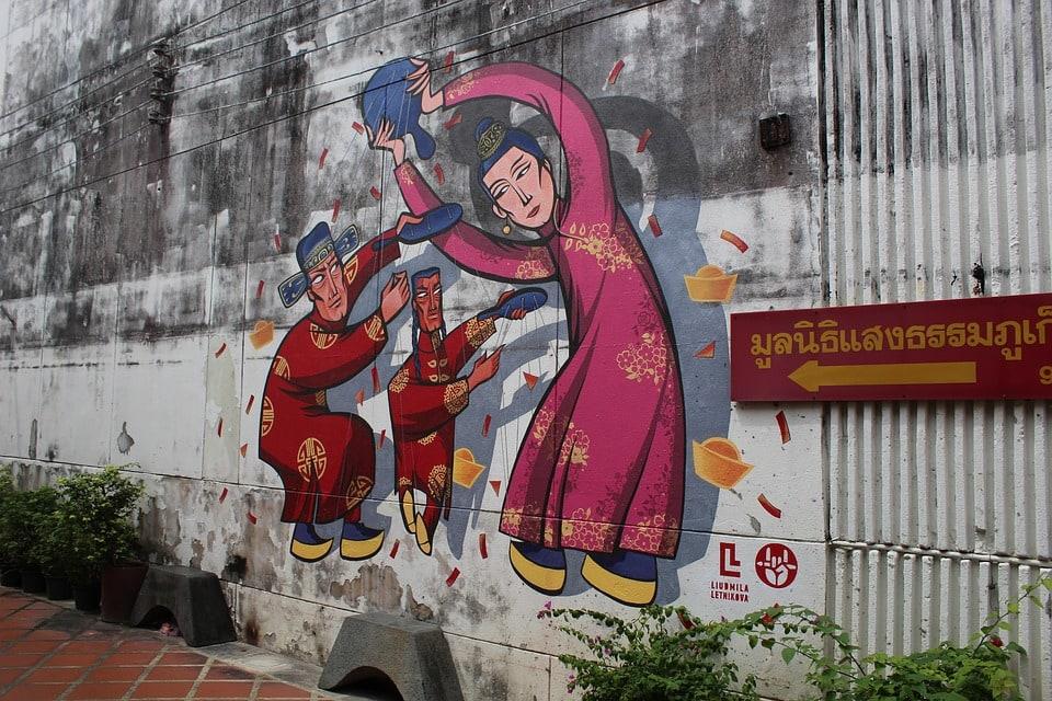 Phuket Old town street art