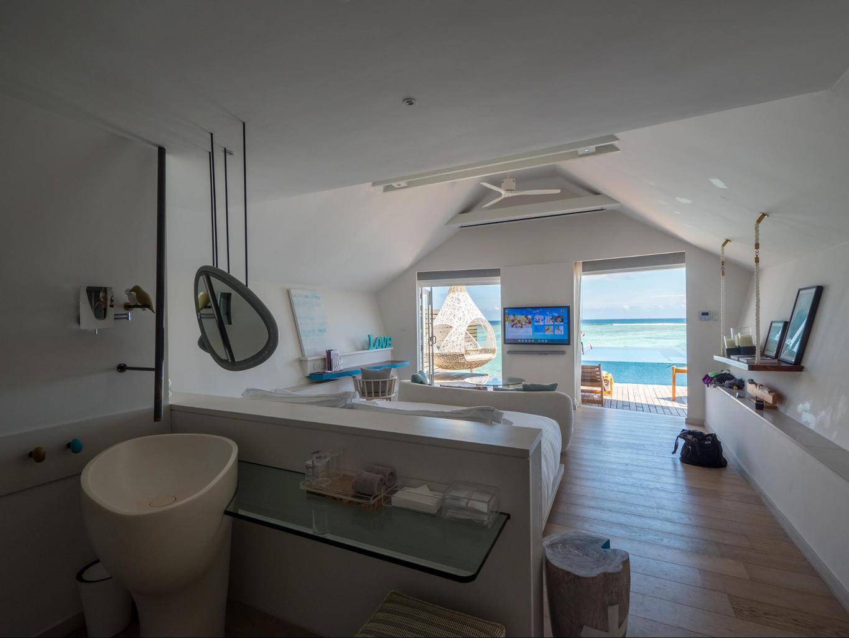 Romantic Pool Water Villa at LUX* Maldives South Ari Atoll