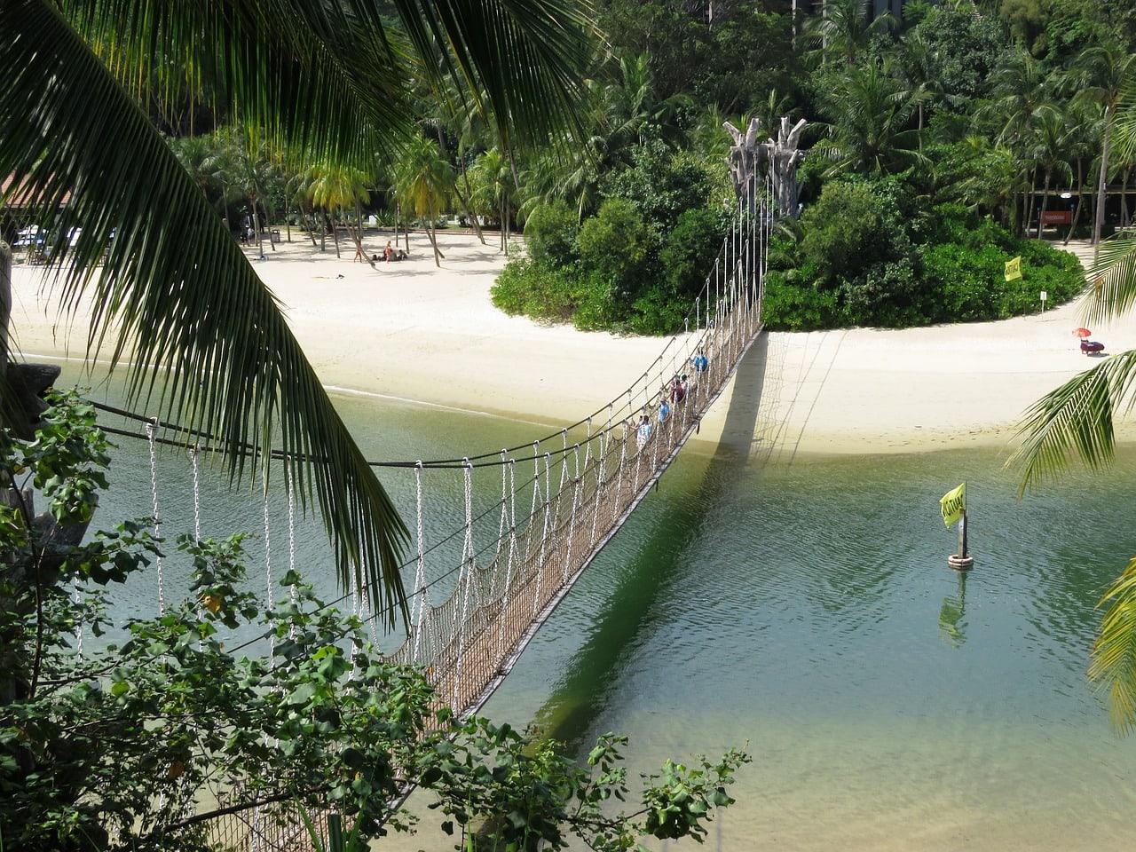 Sentosa suspended bridge Palawan
