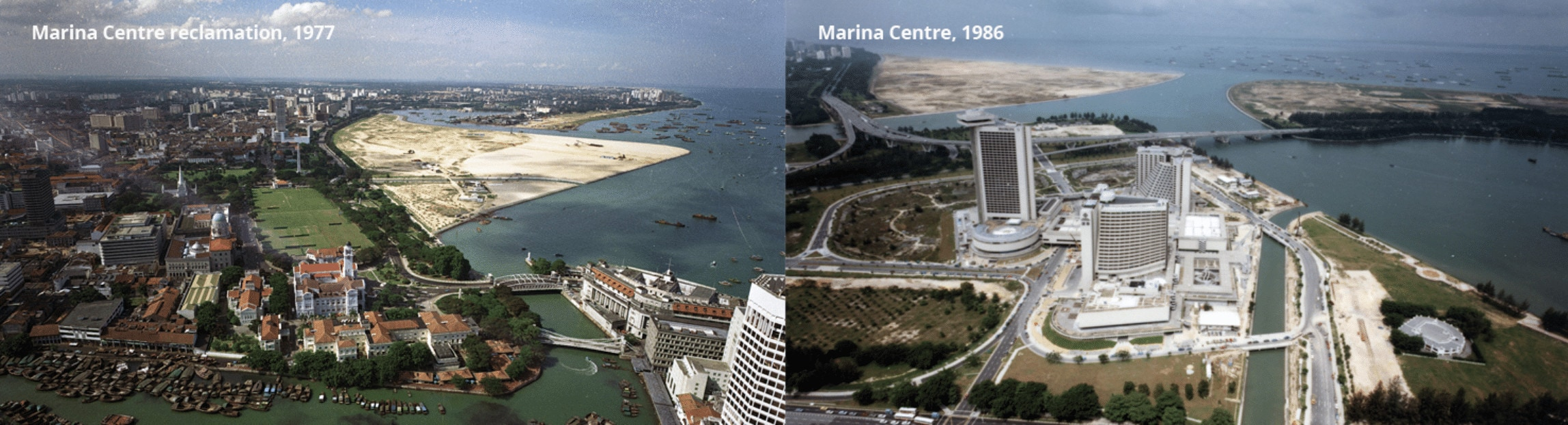 Singapore's first land reclamation projects Source