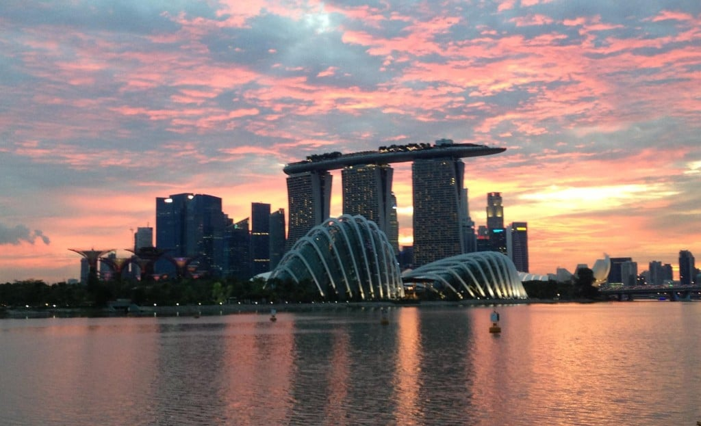 Singapore from the barrage