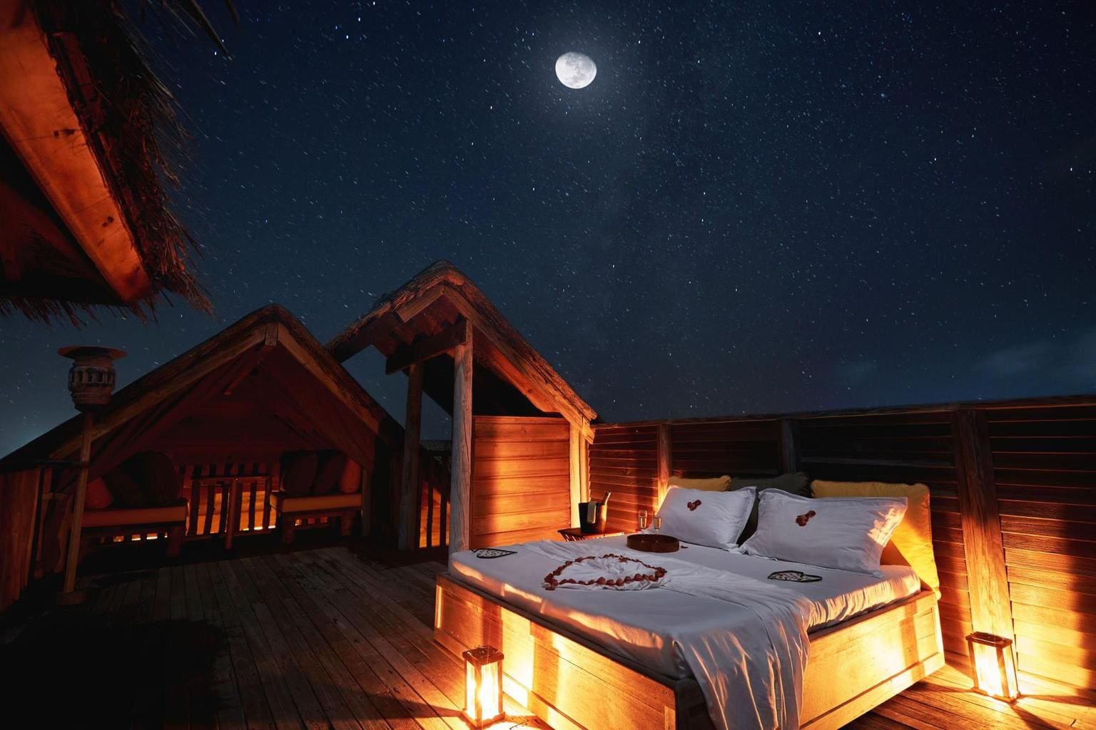 Sleeping under the stars at Gili Lankanfushi