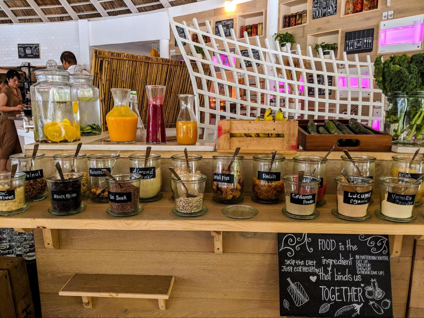 Some of the breakfast foods at LUX* Maldives 03