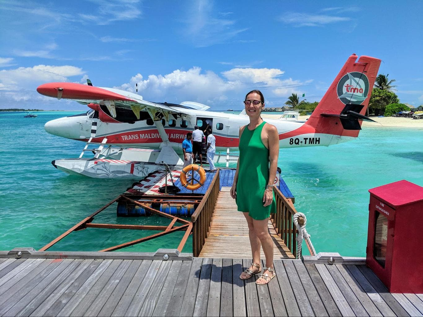 Summer dresses to board a Maldivian seaplane