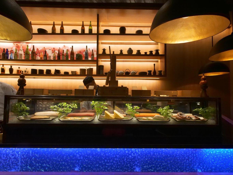 Sushi counter at Umami