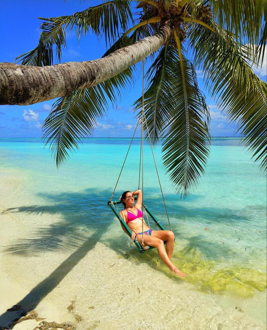Swing hanging from palm tree at LUX*