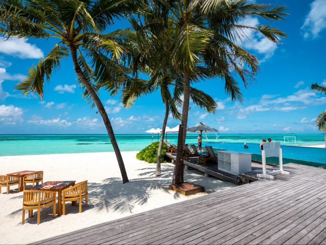 The view from Senses Restaurant at LUX* Maldives 01