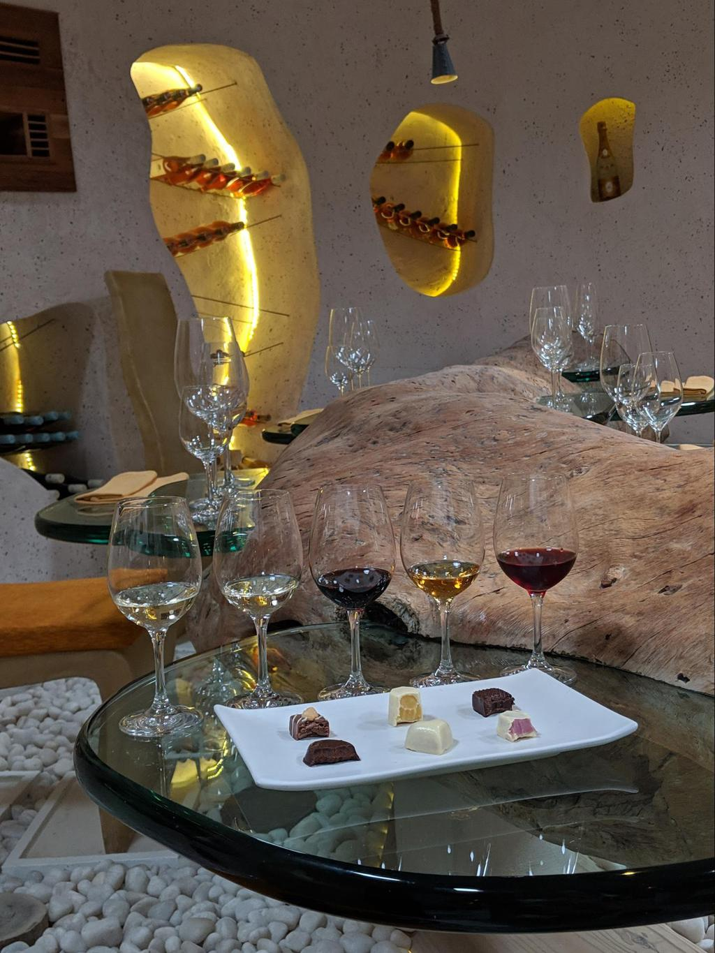 Wine and chocolate pairing at Gili Lankanfushi