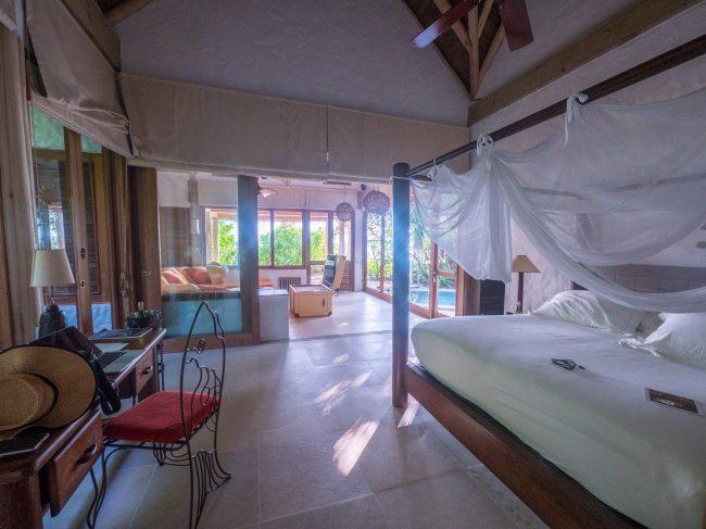 Bedroom in our villa at Soneva Fushi