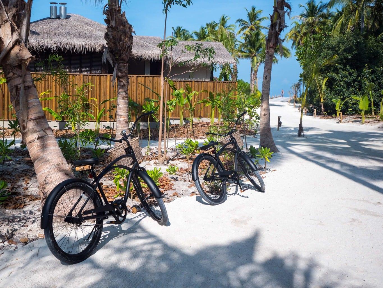 Bikes at Joali Maldives