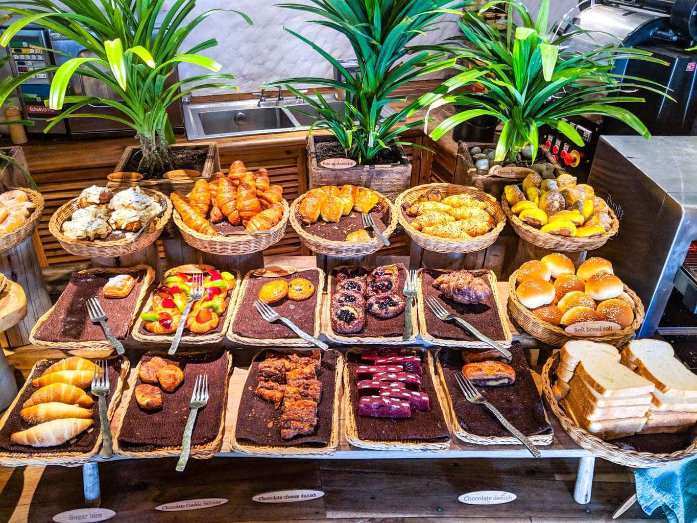 Bread selection at Soneva Fushi