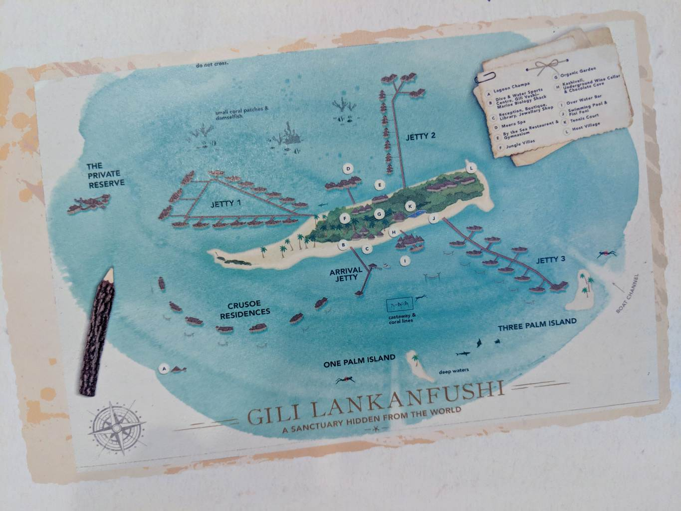 Map of Gili Lankanfushi