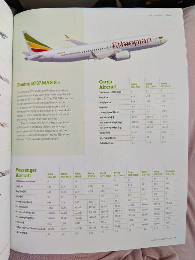 New Ethiopian Airlines Boeing 787 12