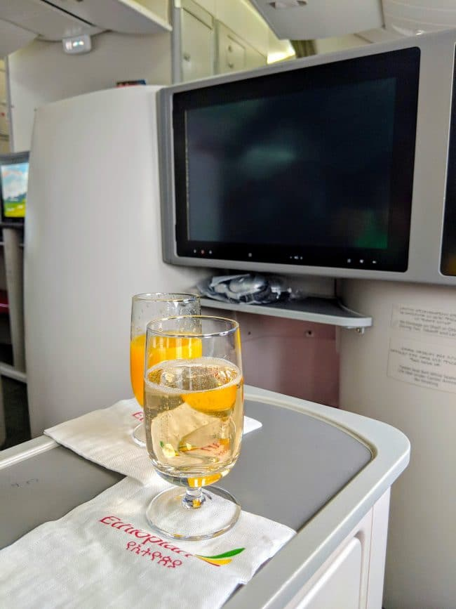 New Ethiopian Airlines Boeing 787 champagne