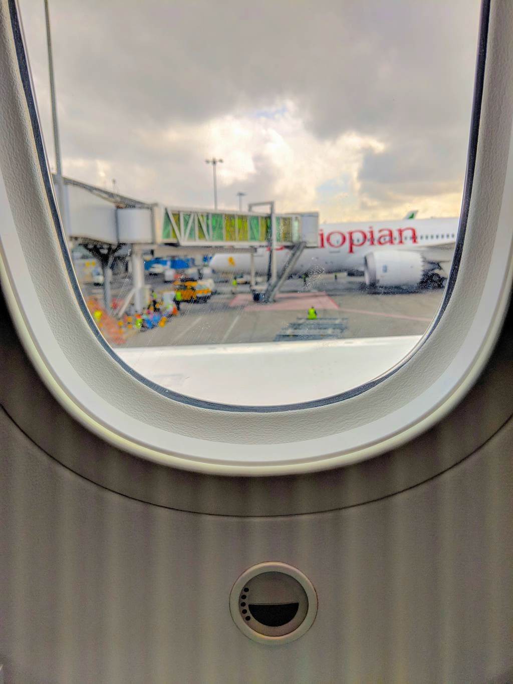 New Ethiopian Airlines Boeing 787 window