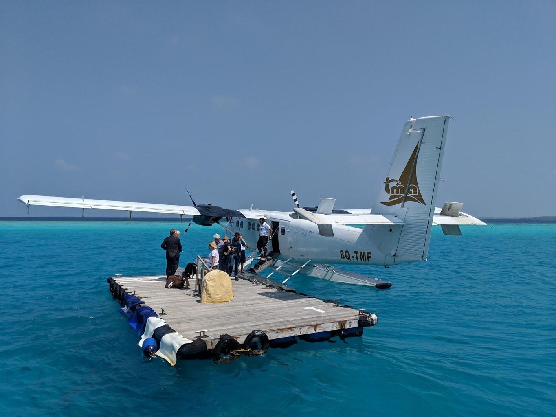 "The floating ""airport"" of Soneva Fushi"