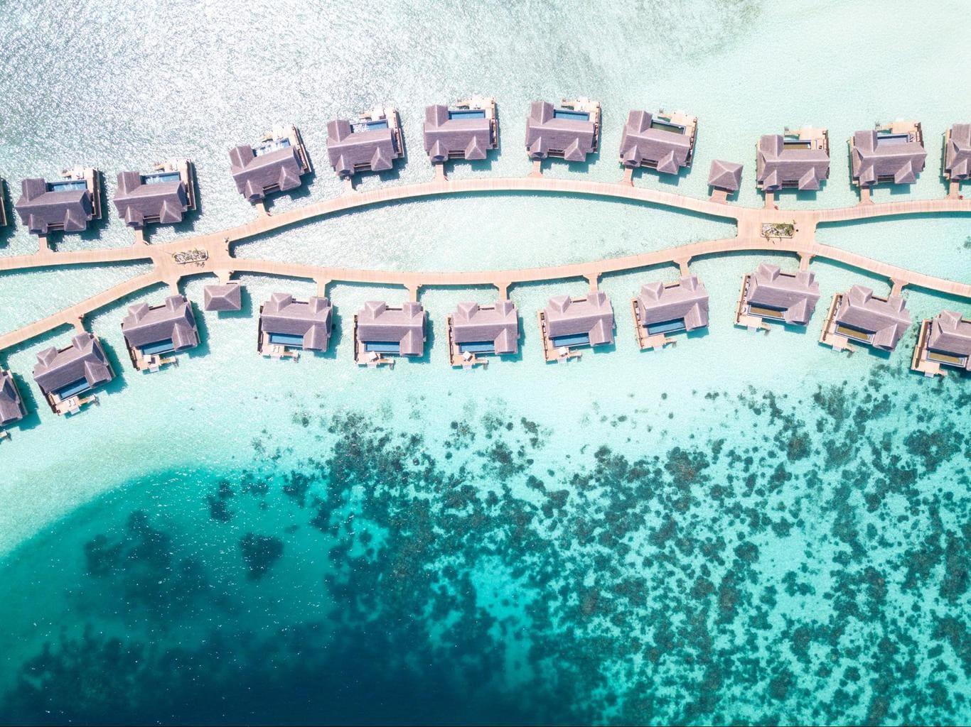The luxury water villas at Joali Maldives