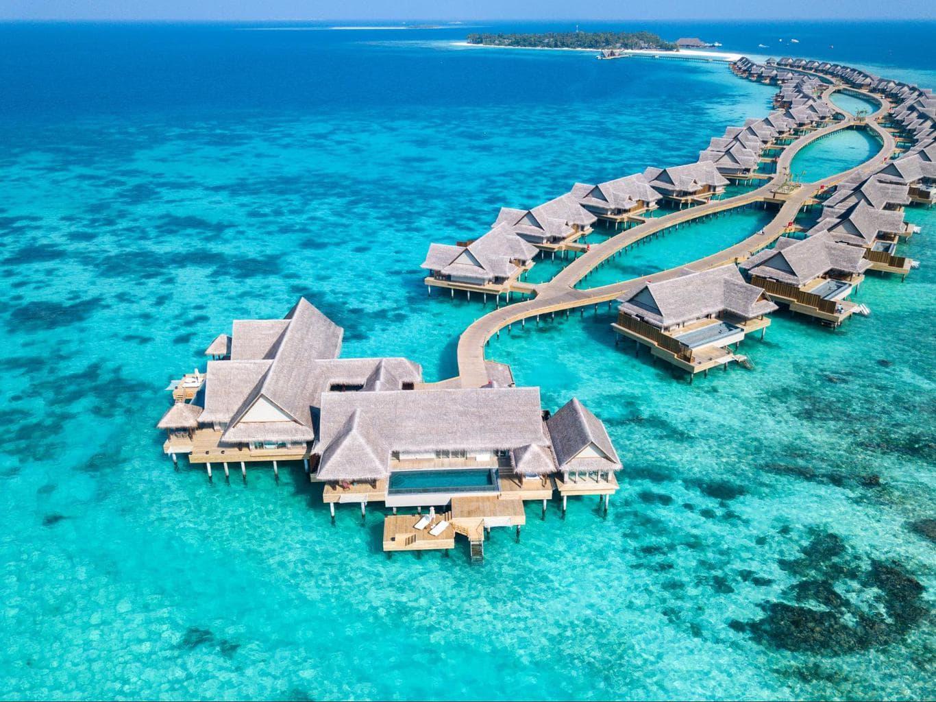 The three bedroom water villa at Joali Maldives