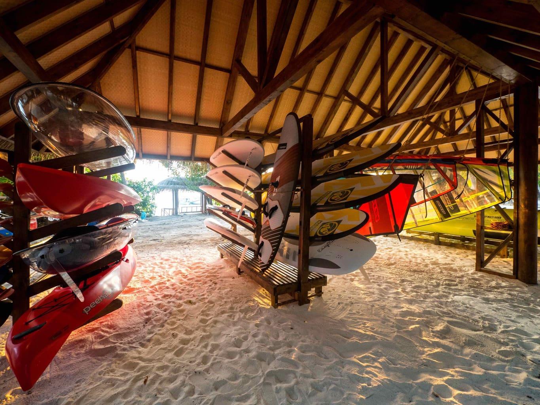 Water sports center at Joali Maldives