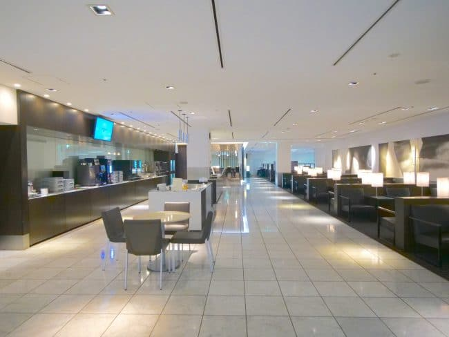 ANA Lounge Dining and seats