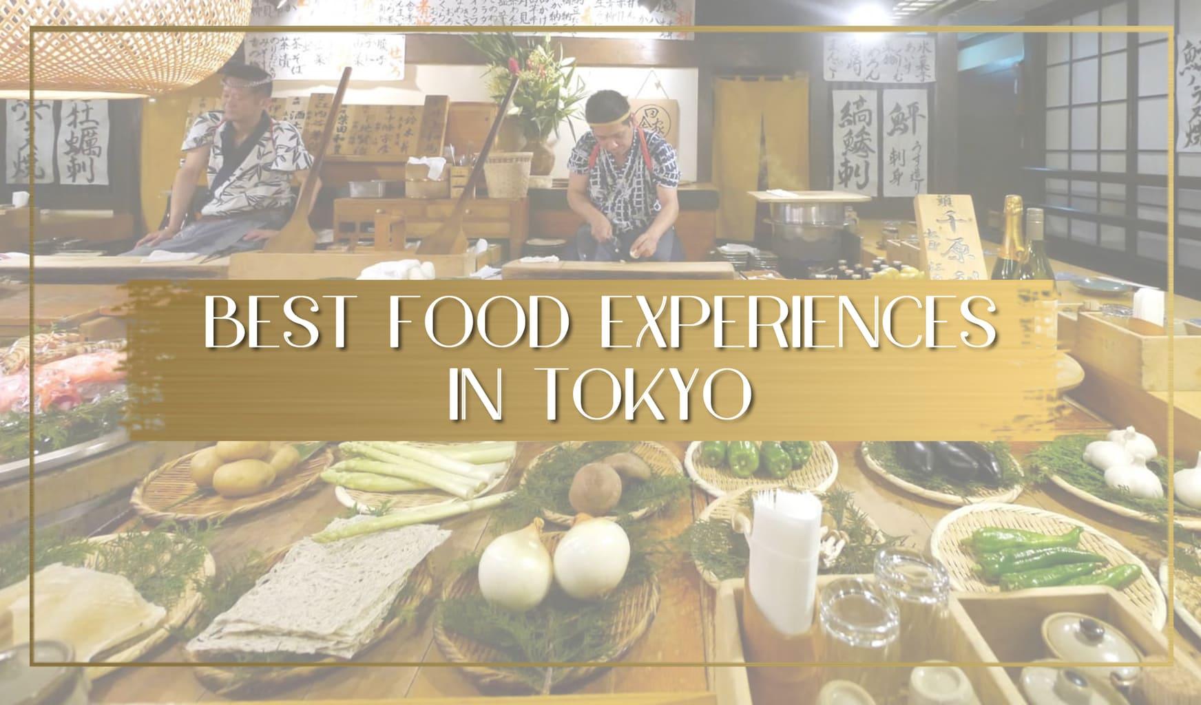 Best food experiences in Tokyo main