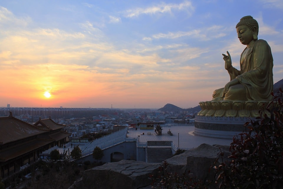 Big Buddha at sunset