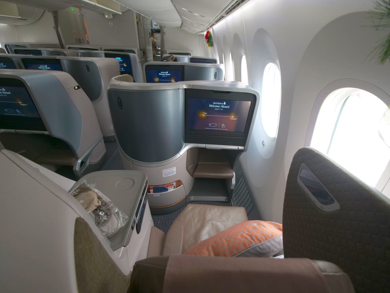 Review of Singapore Airlines Boeing 787-10 Business Class