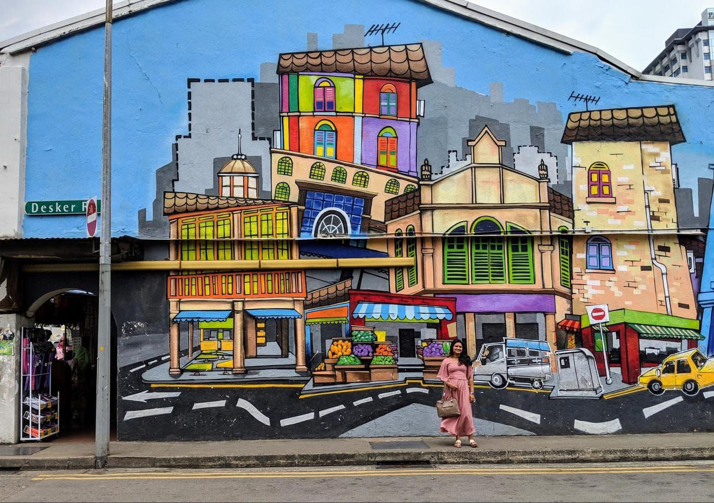 Street art on Little India