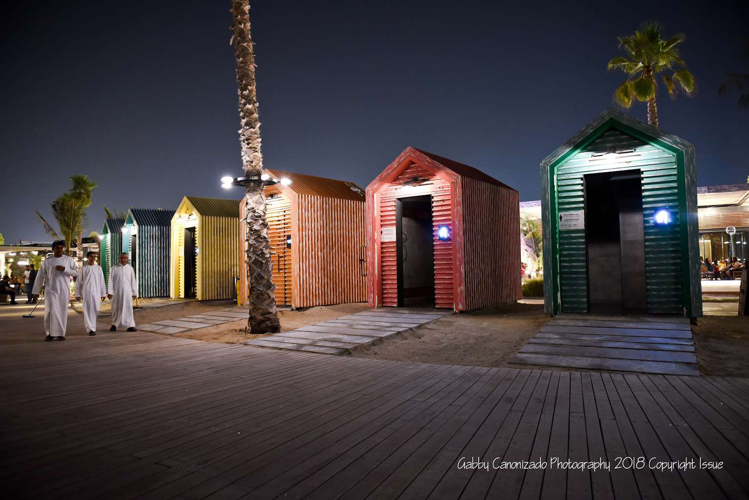 La Mer colorful changing rooms