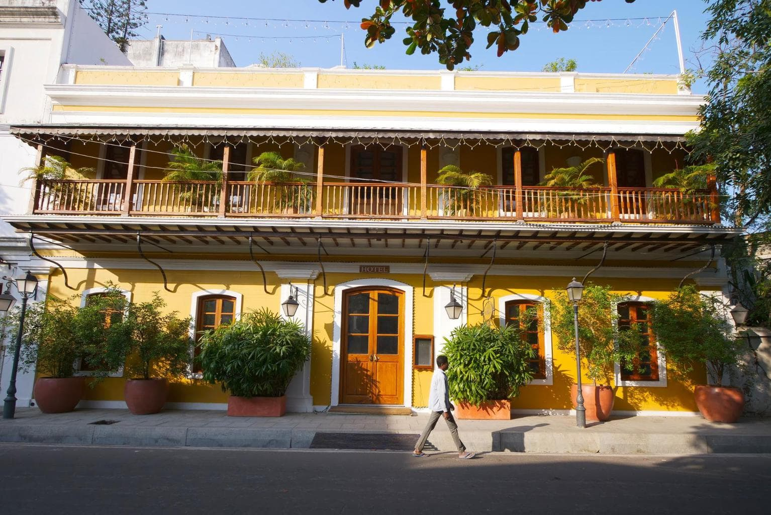 French colonial mansion in Pondicherry