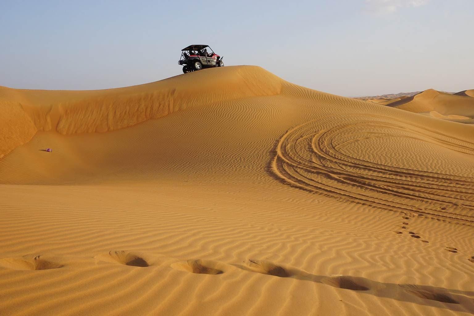 Go quad biking in the desert