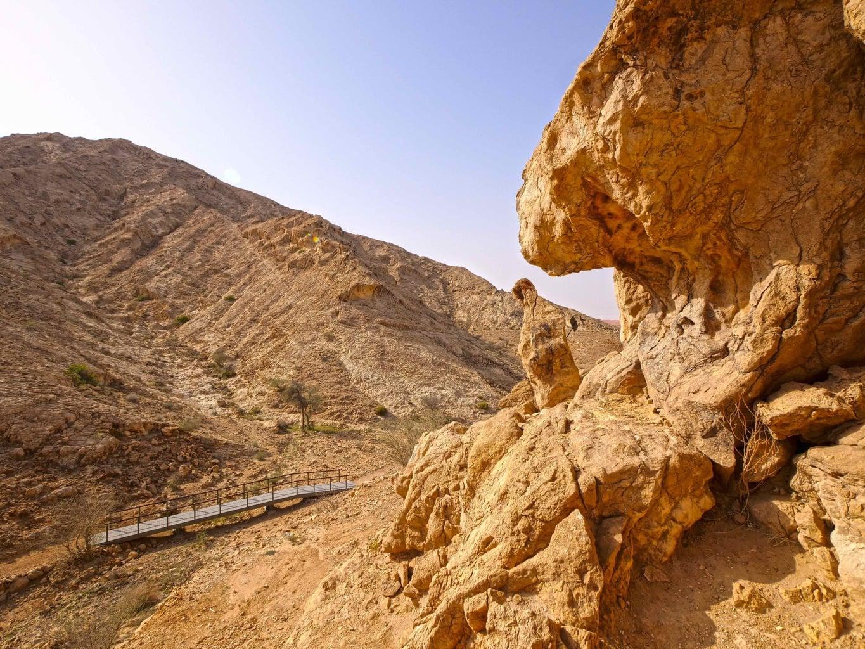 Mleiha Wadi Caves path