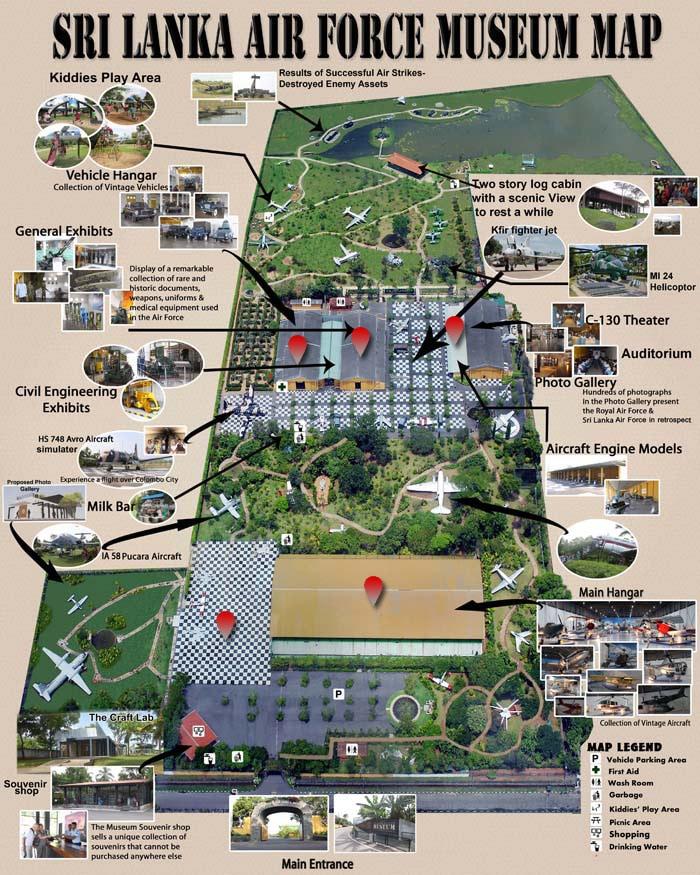 Sri Lanka Air Force Museum map
