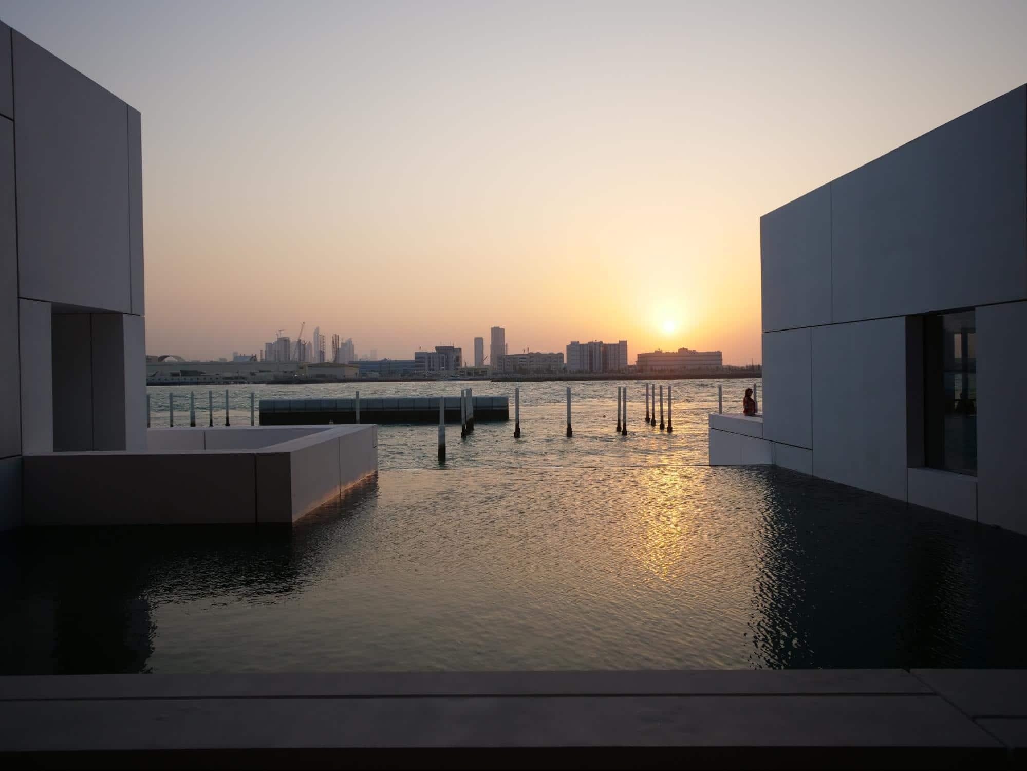 The Louvre Museum Abu Dhabi sunset