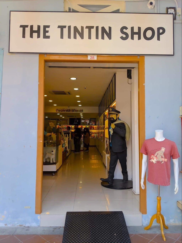 Tintin Shop entrance