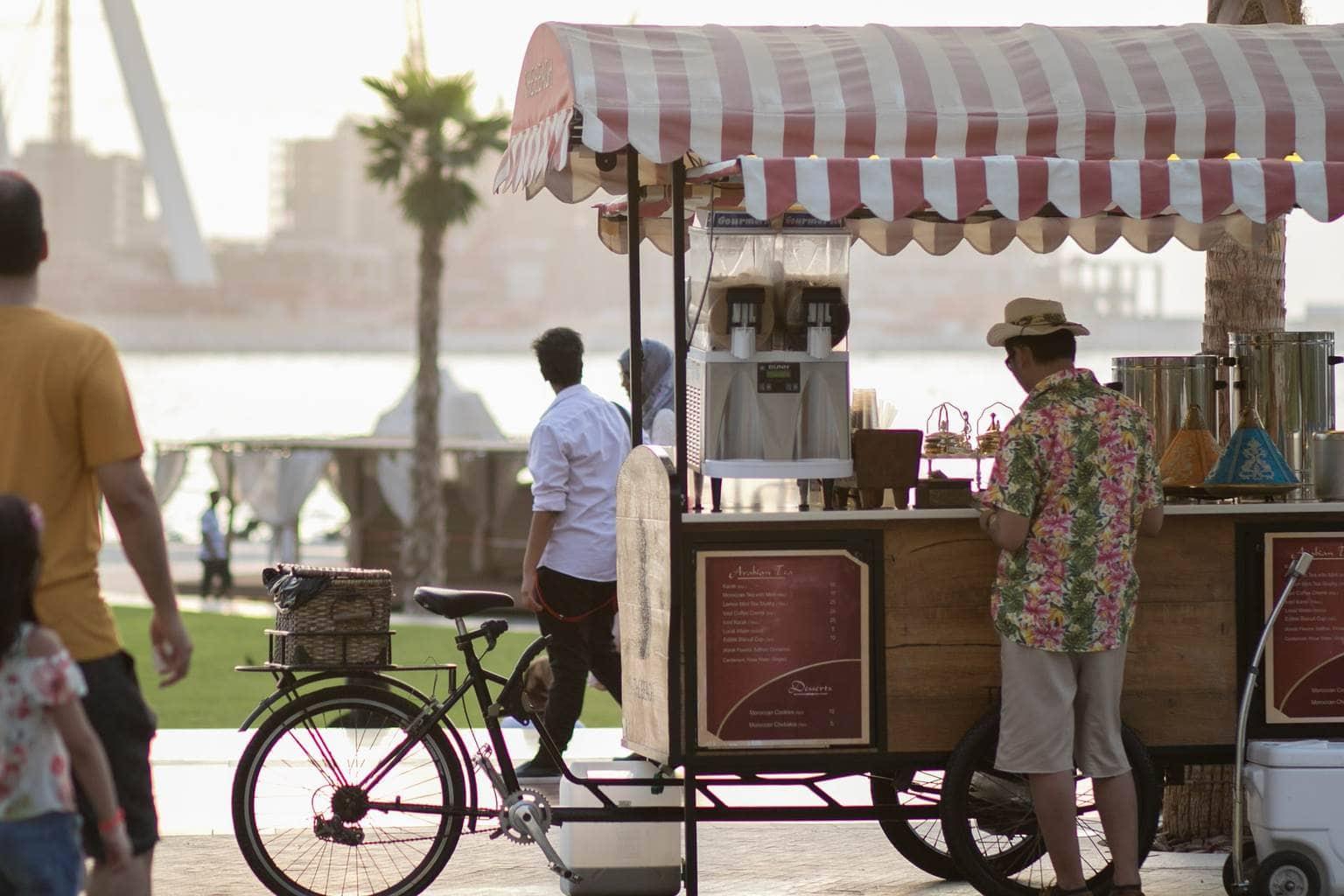 Vendor at The Walk at Jumeirah Beach