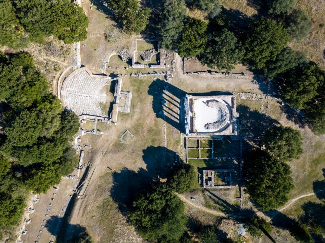 Apollonia Archeological Park from above