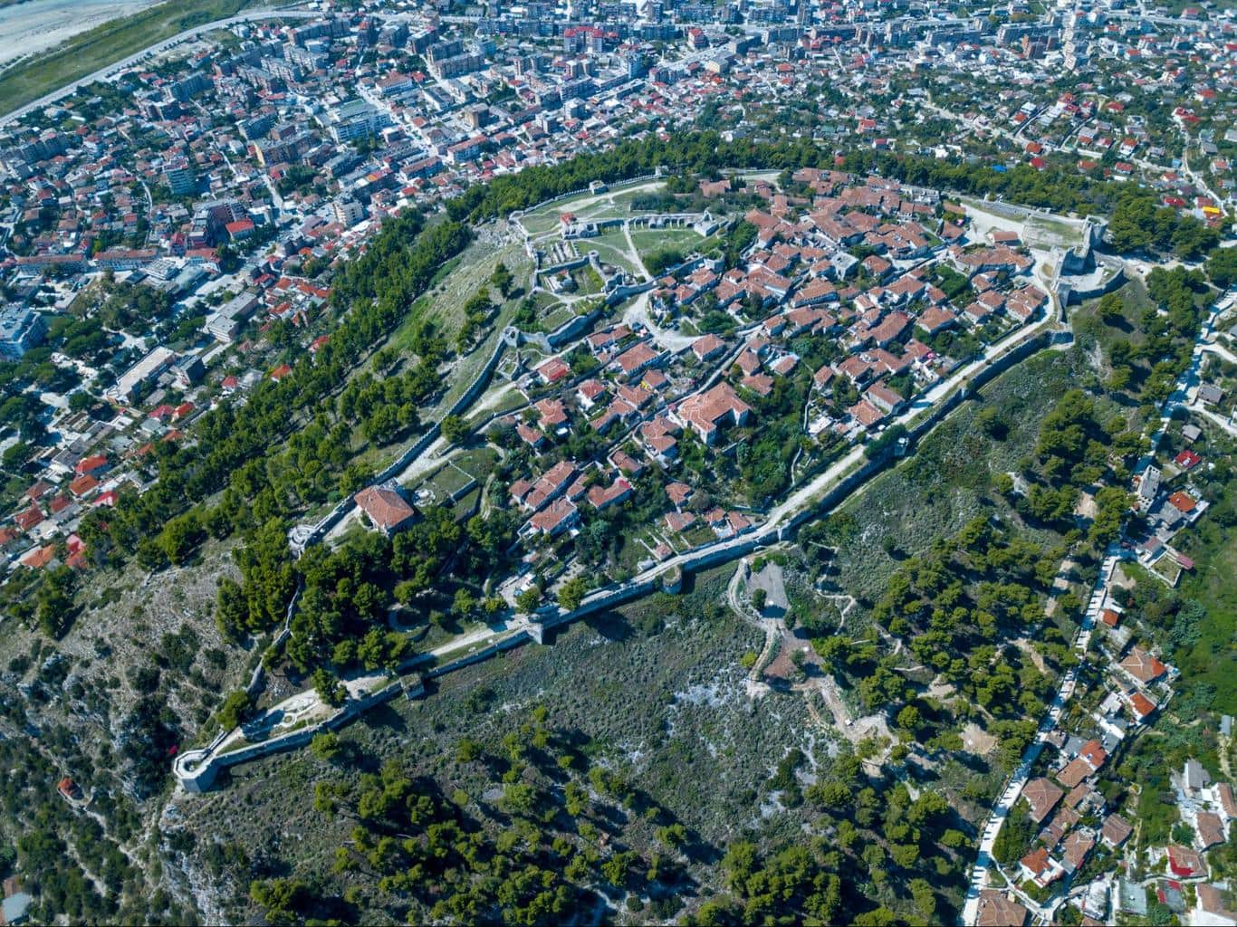 Berat Castle from above